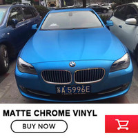 High Quality Matte Satin Chrome Sky Blue Vinyl Wrap Folie Matte Metallic Blue Car Body Film