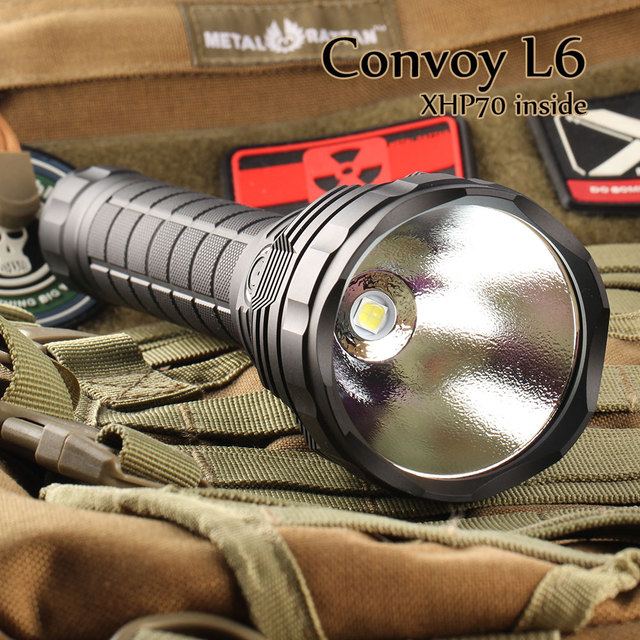 Black Convoy L6 flashlight ,XHP70 led inside