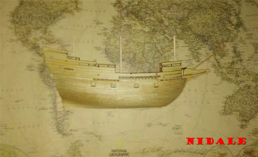 NIDALE model Scale 1/96 classics wall hanging wooden model kits mayflower Half hull ship model