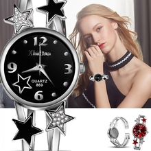 цены на New Women's Bracelet Watch 2019 Unique Ladies Watches Full Steel Wristwatches Women Watches Star Clock bayan kol saati  в интернет-магазинах