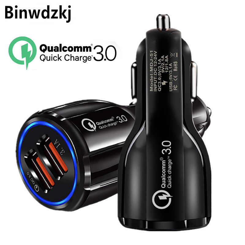 36 W Dual USB Charge Cepat QC 3.0 Charger Mobil untuk Samsung S10 S9 S8 Plus Fast Charger Ponsel cepat Charger Mobil Charger