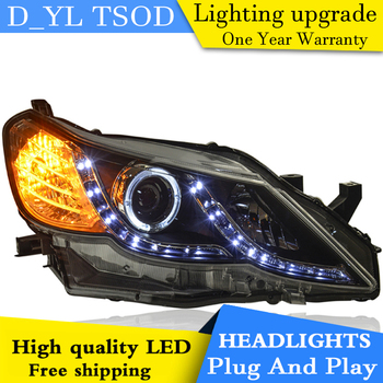 DY_L Car Styling New For Toyota Mark X headlight 2010-2013 Mark X led headlight head lamp led drl H7 hid Bi-Xenon Lens low beam