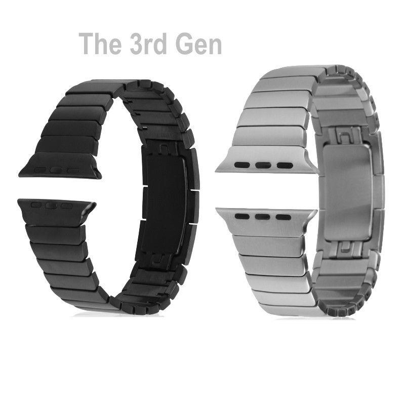 de591973363be Enlace pulsera para apple watch band 42mm de acero inoxidable 316l correa  para apple watch correa para iwatch banda hebilla originales 1 1