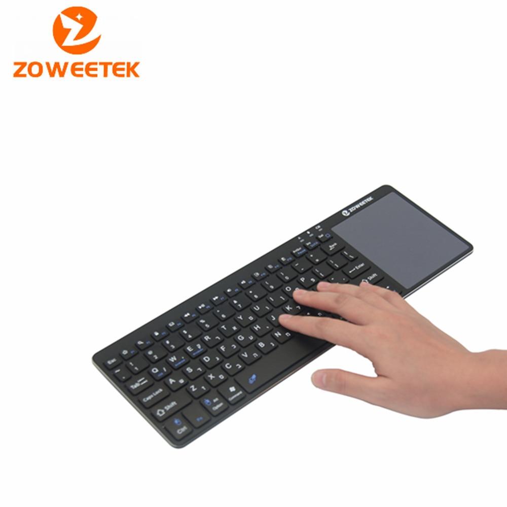 Zoweetek K12BT-1 Erittäin ohut alumiininen langaton Bluetooth-heprealainen näppäimistö, jossa on Teclado-toupad IOS-Android-tietokoneelle
