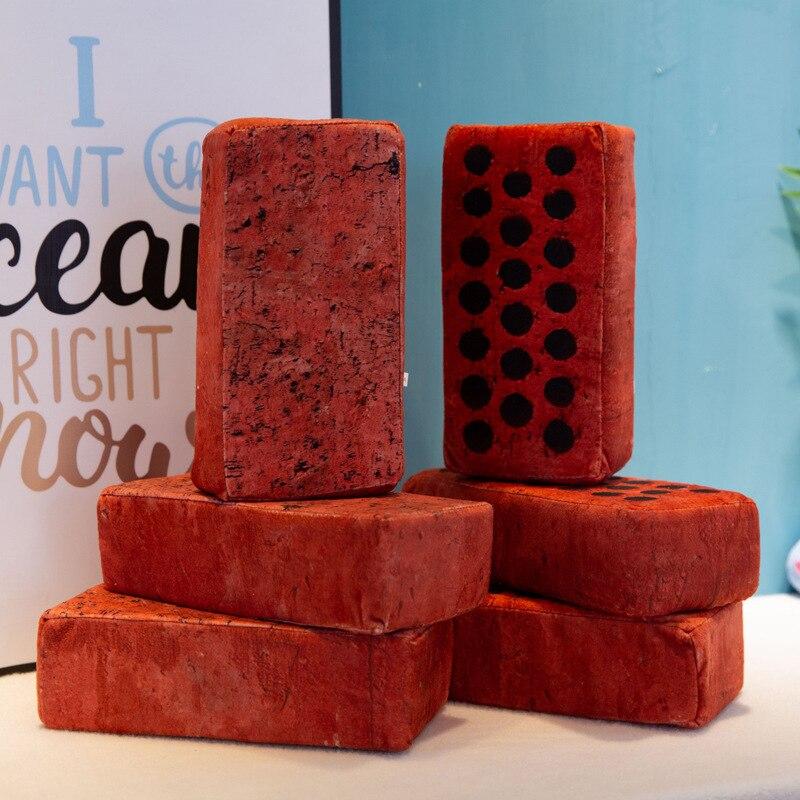 Simulation Brick Soft Plush Chair Seat Cushion Pillows Home Car Decor Stump Shaped Decorative Pillows Memory Foam Pillow Cushion