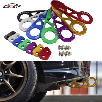 RASTP JDM Style Racing Rear Tow Hook Aluminum Alloy Rear Tow Hook For Honda Civic RS-TH004 rastp aluminum cp2623 racing master cylinder for hydraulic hand brake handbrake rs hb903