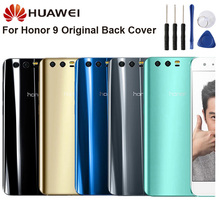 Original Glass Battery Rear Case For Huawei Honor 9 STF-AL00 5.15 Back Cover Phone Backshell Cases