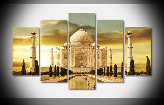 5009 taj mahal world Poster Poster Framed Gallery wrap art print ...