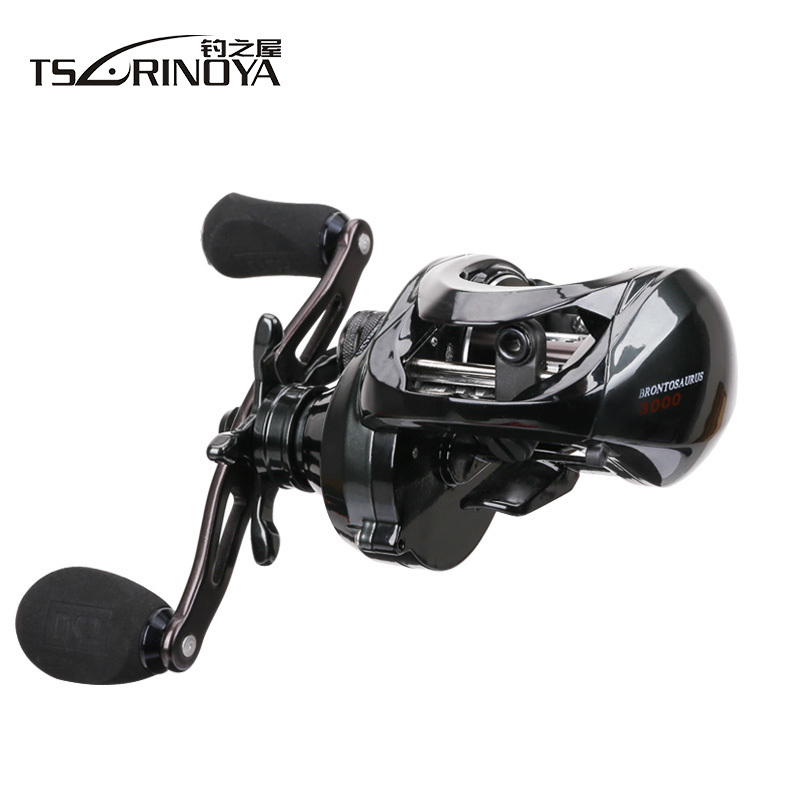 TSURINOYA Metal Body Large Profile Fishing Baitcasting Reel Left Right Hand Max Drag 10KG Saltwater Bait Casting Fishing Reel new 12bb left right handle drum saltwater fishing reel baitcasting saltwater sea fishing reels bait casting cast drum wheel