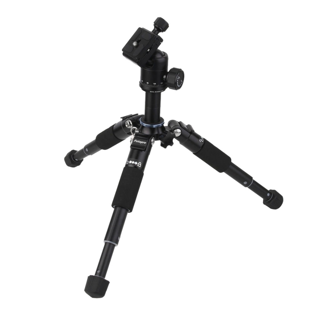 Fotopro M-5 Mini camera tripod Aluminum Magnesium Alloy Tripod + FPH 53P Head /Portable Traveling Tripod / Photo Parts Wholesale mefoto a0320q00 aluminum alloy mini camera tripod portable desktop tripod stand support steady hold camera with tripod head