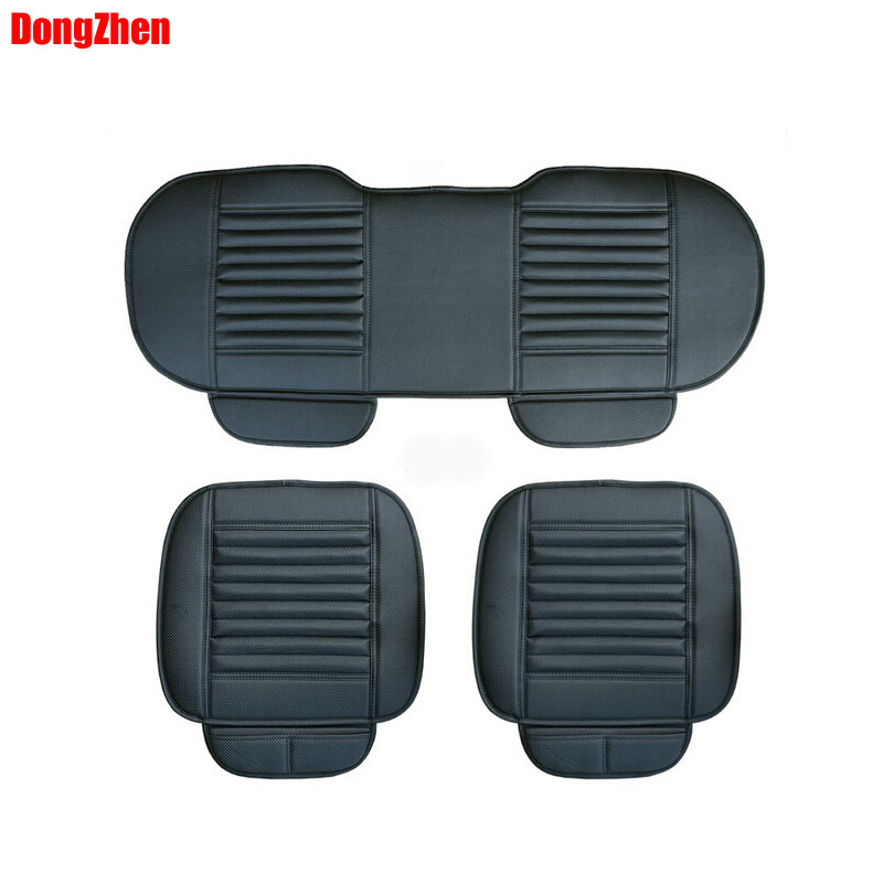 Dongzhen Car Auto covers Charcoal seat cushion all-inclusive four seasons seat covers car seat coves 125CM Fit For POLO ...