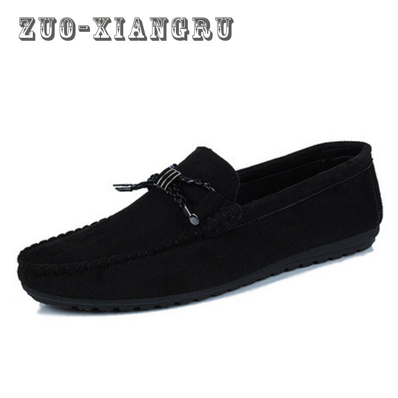 New Casual Men Shoes Loafers High Quality Faux Suede Leather Fashion Breathable Male Slip On Light Shoes Men Flats Soft Shoes  synthetic leather men shoes spring male casual shoes new 2017 fashion leather shoes loafers men s shoes flats zapatillas
