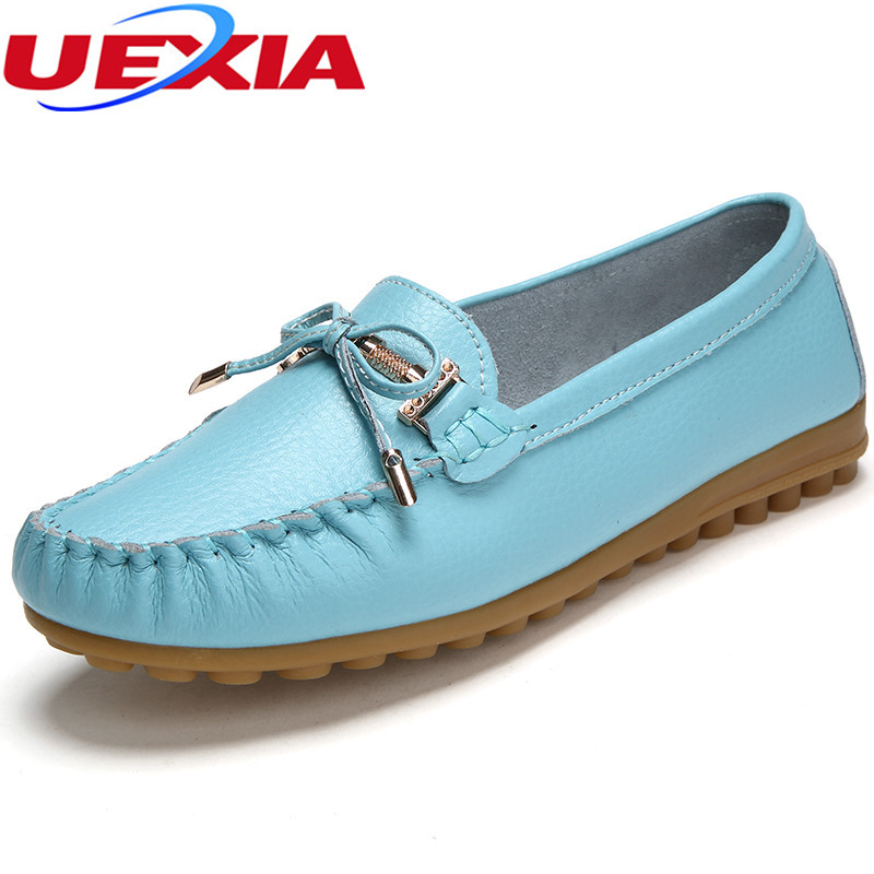 Leather Slip-on Loafers Flats Moccasins Driving Woman Shoes Leisure Handmade Concise Mother's Sapatilhas Femininos Zapatos Mujer 2017 new leather women flats moccasins loafers wild driving women casual shoes leisure concise flat in 7 colors footwear 918w