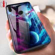 Hisomone Animal Tempered Glass Case For Huawei P20 Lite Pro