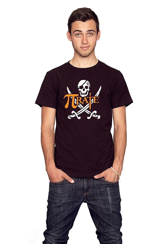 Summer Round Collar Loose Printing T Mens T Shirts Fashion 2018 Rocket Factory Pirate Pi Symbol Math T Shirt
