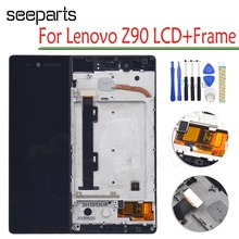 "For Lenovo VIBE SHOT Z90 Z90 7 LCD Display Touch Screen Digitizer Assembly With Frame For 5.0"" Lenovo z90a40 Display Replacement"