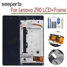 "עבור Lenovo VIBE SHOT Z90 Z90 7 LCD תצוגת מסך מגע Digitizer עצרת עם מסגרת עבור 5.0 ""Lenovo z90a40 תצוגה החלפה"