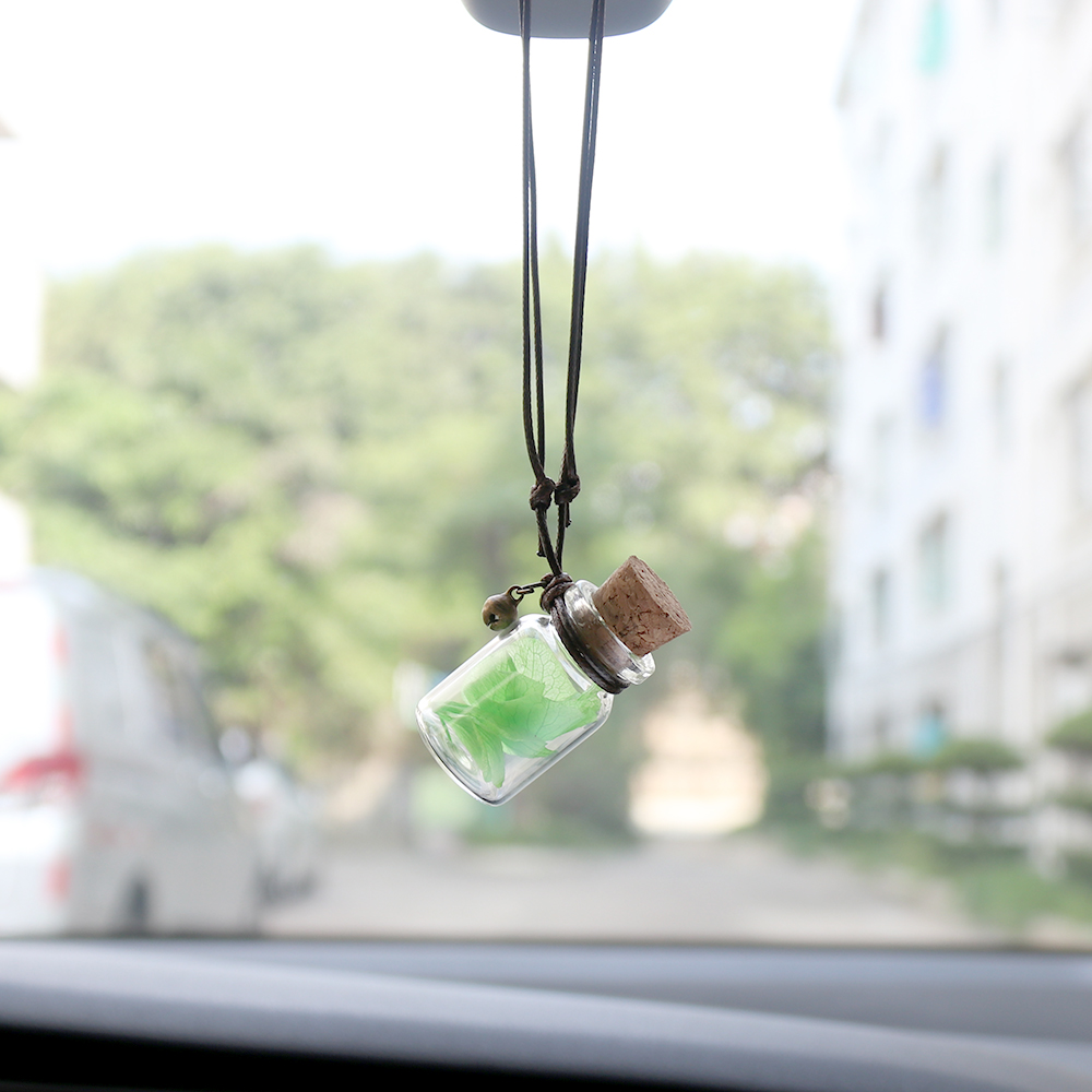 Car Perfume Bottle Air Freshener For Essential Oils Auto Ornament Perfume Pendant Empty Hanging Bottle Car Pendant
