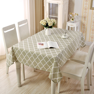 Linen Cotton Black White Pink Plaid Tablecloth Dining Kitchen Table Cover Rectangular Oilproof Cloth Wedding Decoration In Tablecloths From Home