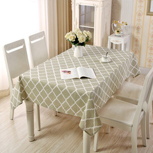 Linen Cotton Black White Pink Plaid Tablecloth Dining Kitchen Table Cover Rectangular Oilproof Cloth Wedding Decoration