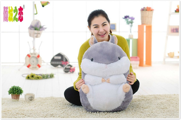 big plush fat hamster toy lovely new gray hamster doll gift toy about 55cm the huge lovely hippo toy plush doll cartoon hippo doll gift toy about 160cm pink