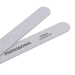 Image 5 - 10pcs/lot Sandpaper Nail File for gel nails 180/240 Professional Manicure Buffer Pedicure Double sided set de limas Nail Tools
