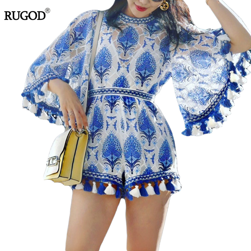 06a1b17cf7d 2018 RUGOD Summer Women Dress Casual beach dress Plus Size Bohemian Style  dress for girls female