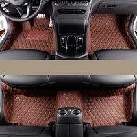 car styling fiber leather car floor interior mat for mercedes benz c class w203 w204 w205 c180 c200 c300 c250 2001 2018
