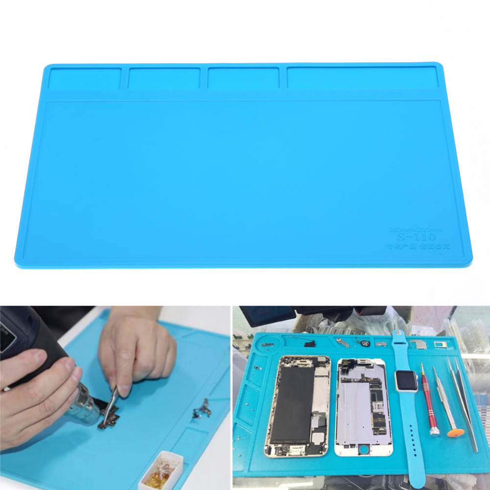1pc Heat Resistant Soldering Mat Insulation Silicone