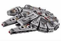 1381PCS Lepin Legod Star Wars EM Bloco Lepin Millennium Falcon 05007 Starwars Mini Figures Building Block