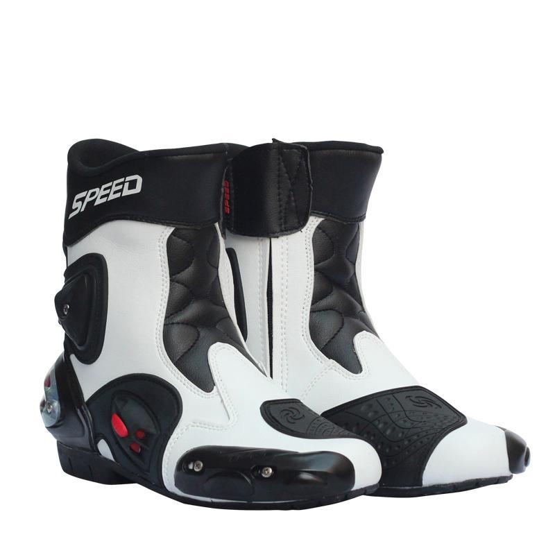 Motorrad Racing Schuhe Leder Motorrad Stiefel Reiten Motorrad Motocross Off-Road Moto Schutz Zubehör Stiefel