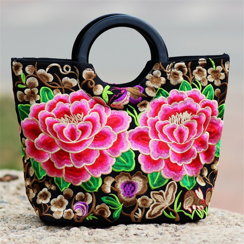 embroidered bag Chinese wind bag backpack,Flower Purse Purse Flower Bag folk style Embroidery bag