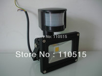 Free Shipping 10W 20W 30WNew PIR Motion Sensor LED Flood Light Induction Sense Lamp FloodLight 85
