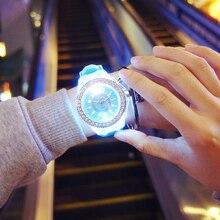 Creative LED flash women Watches top Brand Luxury Casual Quartz Watch female Ladies watches Women Wristwatches relogio feminino