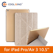 Tablets Case For iPad Pro 10.5 Air 3 2019 10.5'' Smart Multi-folded PU Cover+PC Protective Cover For iPad Pro 10.5 Case Air Case стоимость