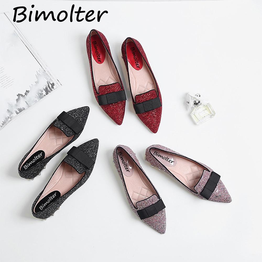 Bimolter Echtes Leder Flache Schuhe Frau Schaf Wildleder Loafers - Damenschuhe - Foto 6