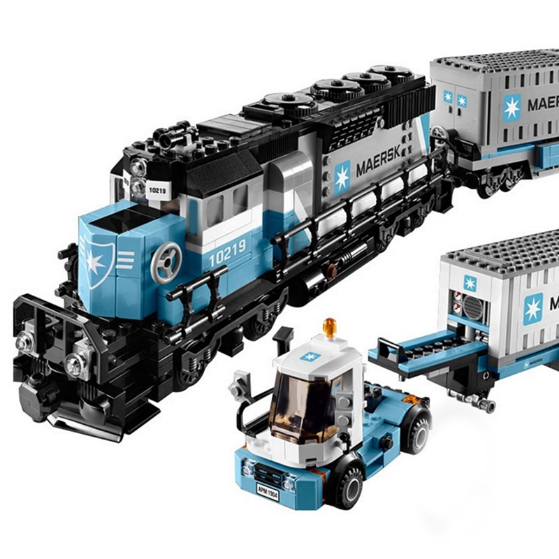 Lepin 21006 Genuine Technic Ultimate Series The Maersk Train Set Building Blocks Bricks Toys Kid Christmas Gift 10219 Legoings 22002 genuine technic series the maersk cargo container ship set 10241 building educational toys lepin