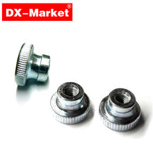 m5 knurled nut , 100pcs GB806 hand tighten nut , din466 -B knurled nuts platform fasteners