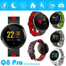 Fitness Tracker Smart Watch Q8 Pro Smartwatch Waterproof Bracelet Heart Rate Monitor Sport Wristband for Android IOS(China)
