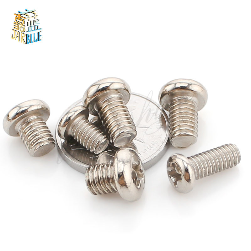 50pcs M3 x6mm Steel Head Screws Bolts Nuts Hex Socket Head Cap Screw Bolts Self-Tapping Screws Fasteners Repair Hardware Tools 50pcs lots carbon steel screws black m2 bolts hex socket pan head cap machine screws wood box screws allen bolts m2x8mm