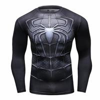 Newest 2016 Fashion Men T Shirt Marvel Superhero Spiderman T Shirt Men Fitness Tee Compression Shirt