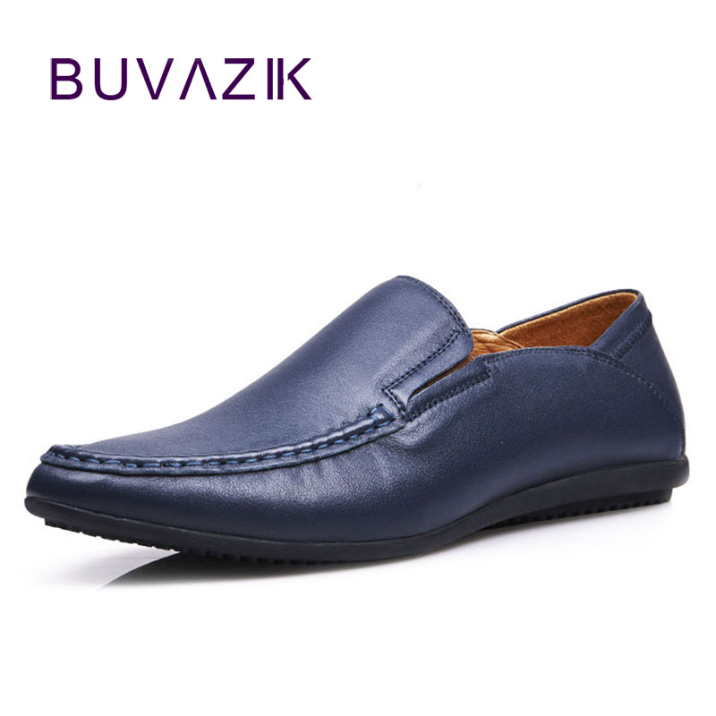 2017 genuine leather casual men shoes top quality the first layer of cow leather very soft and comfortable basic luxury shoes 17 years the new season the first layer of leather shoes shoes men lazy casual leather shoes shoes retro matte doug