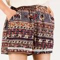 Súper Promoción por Tiempo limitado de Encaje Medio Sexy 2016 Pantalones Cortos de Verano de Las Mujeres de Las Señoras de Boho Femme Corta Floja Vendimia de la Cintura Elástica Femmes
