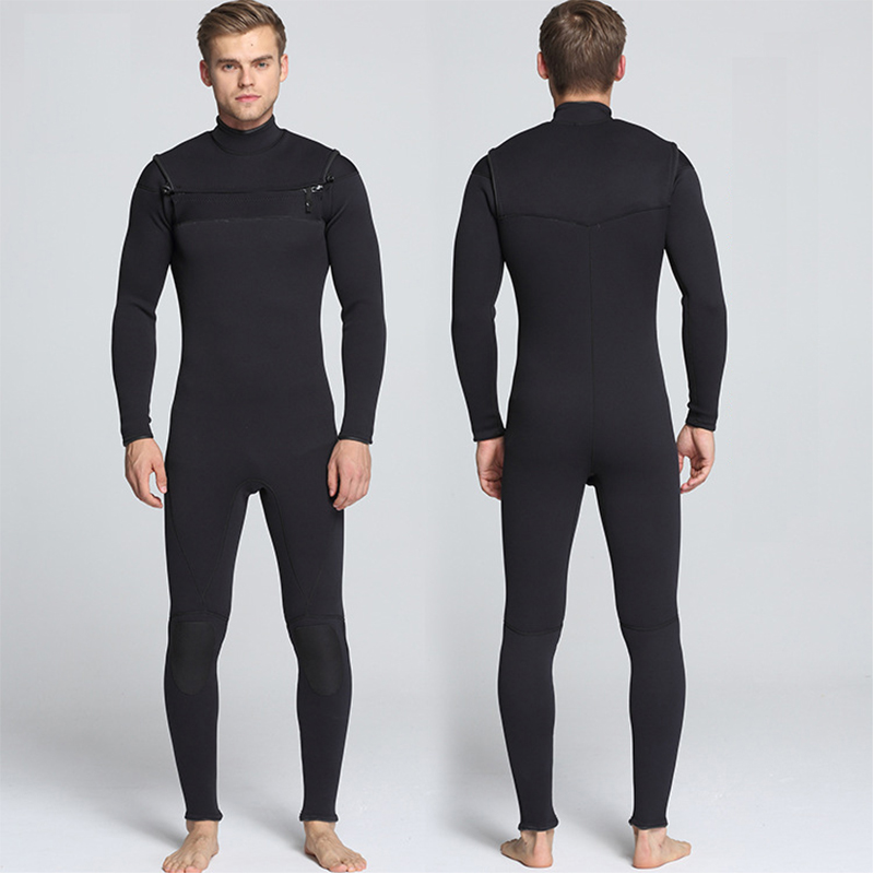 ba68d3efe0 Back 3mm Neoprene Men Long Sleeve one-Piece Wetsuit For Men Spearfishing Wet  Suit Surf Diving Profession Full Bodysuit Swimwear