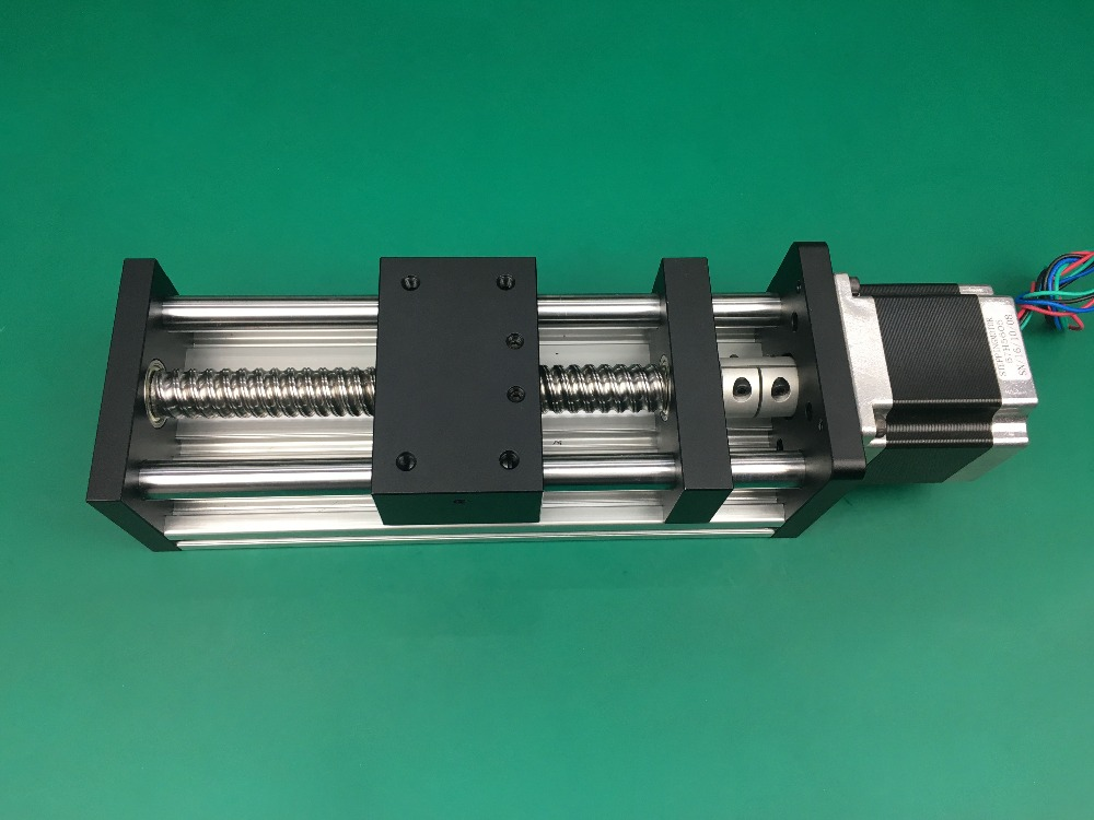 Best Price GGP Ball Screw 1204 1605 1610 Slide Rail 600mm 550mm Linear Guide Moving Table Slipway Nema23 motor 57 Stepper Motor in Linear Guides from Home Improvement