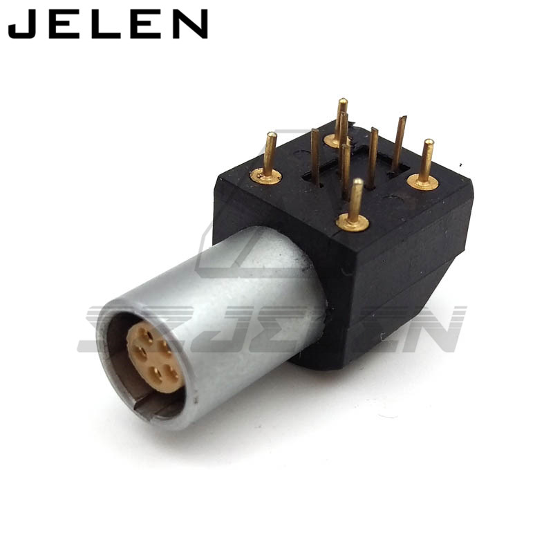 connector 5 pin PCB socket, EPG.0B.305.HLN, 5 Pole Female Right Angle Through Hole Circular Connector,Female bnc female right angle panel mount plastic type white pc board pcb mount right angle bnc female with nut bulkhead connector 3pcs