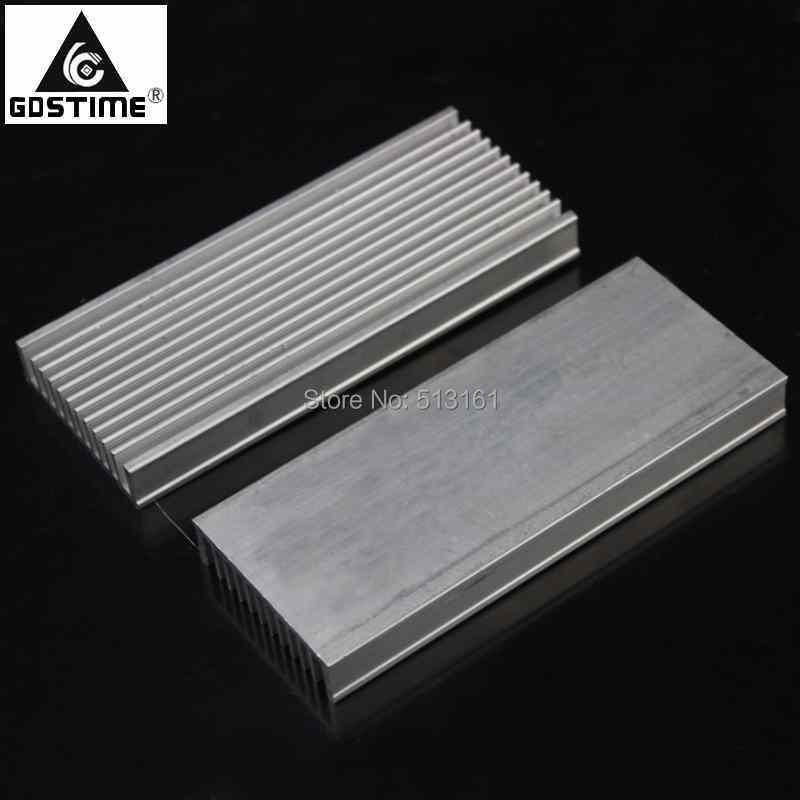 30 pçs/lote Chip de Dissipador de Calor Do Radiador do Dissipador de Calor de Alumínio 120x50x12mm para LED IC Poder Cooler