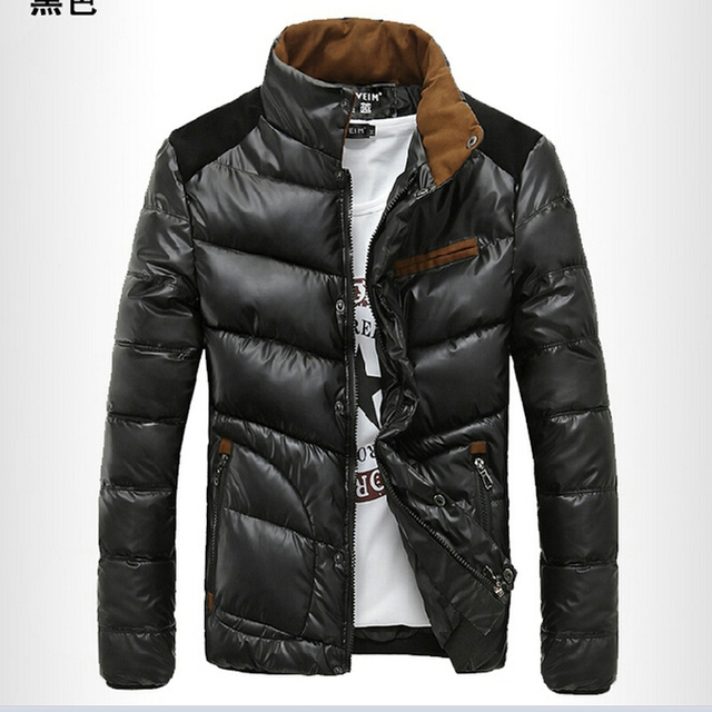 T china cheap wholesale 2016 autumn winter men fashion casual slim stand collar outerwear thickening warm cotton-padded jacket