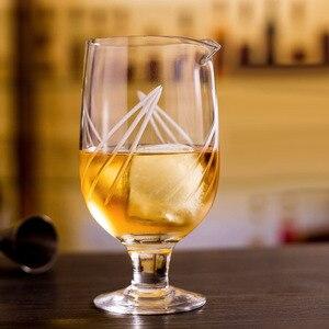 Image 5 - Darmowa wysyłka japoński wzór 750ml Stemmed mieszanie szkła do narzędzia barman koktajl