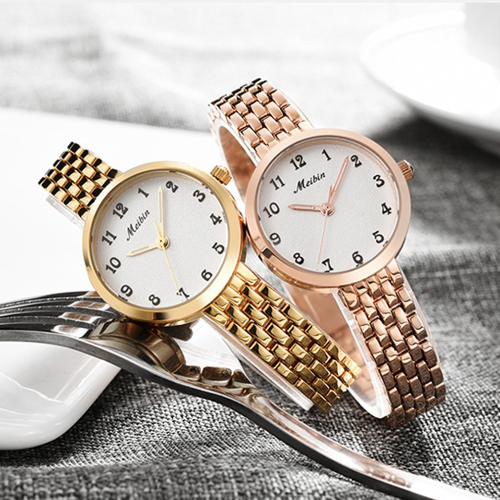 Fashion Small Dial stainless steel watch gold Quartz rosefield watch Workmanship luxury dress Watches Movement Gift for Friends